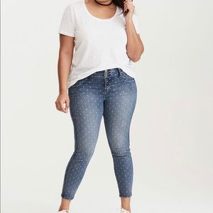 Torrid Polka Dot Skinny Jeans